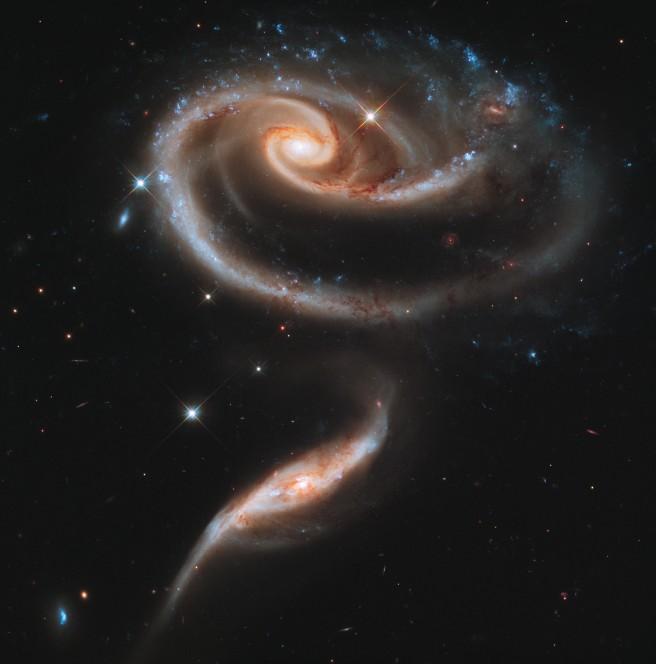 Galaxia en forma de rosa